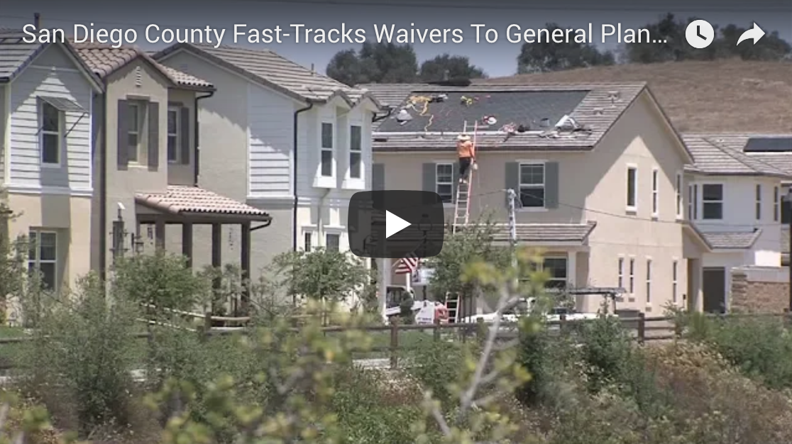 San Diego County Fast-Tracks Waivers To General Plan For New Housing